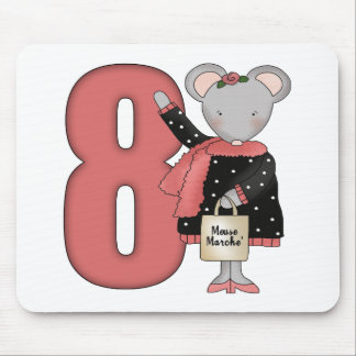 Regalos de cumpleaños del ratón de las compras 8vo alfombrillas de ratón