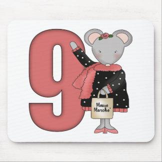 Regalos de cumpleaños del ratón de las compras 9no tapetes de ratones