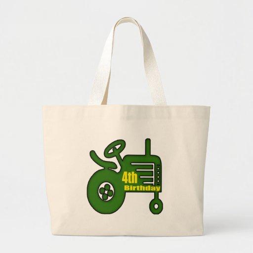 Regalos de cumpleaños del tractor de granja 4tos bolsa tela grande