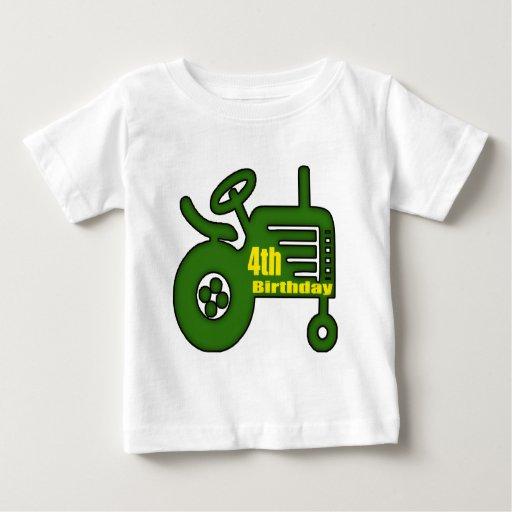 Regalos de cumpleaños del tractor de granja 4tos playera