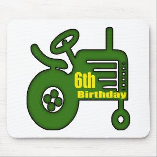 Regalos de cumpleaños del tractor de granja 6tos tapetes de ratón