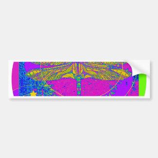 Regalos de cumpleaños púrpuras de la libélula por  pegatina de parachoque