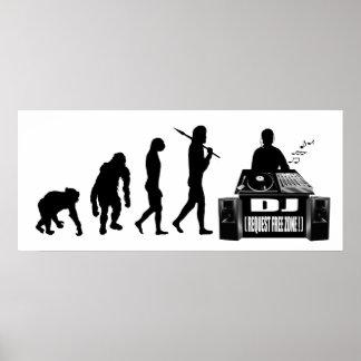 Regalos de DJ Dubstep del engranaje de los amantes Posters