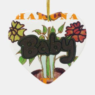 Regalos de Eco Hakuna Matata del bebé Adorno De Cerámica En Forma De Corazón