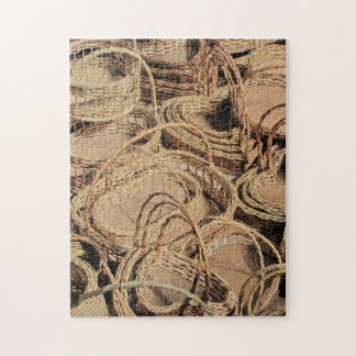 Regalos de encargo de la cesta de mimbre rompecabeza con fotos