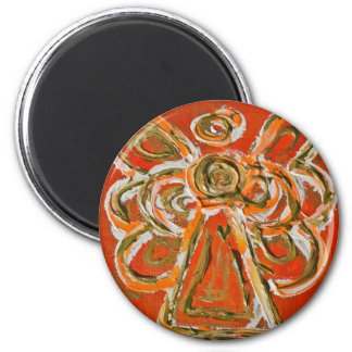 Regalos de encargo del imán del arte anaranjado de