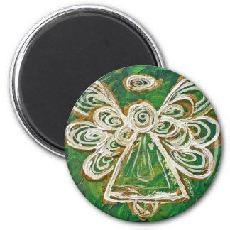 Regalos de encargo del imán del arte verde del áng