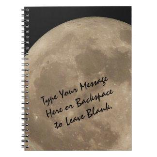 Regalos de encargo del libro del diario de la Luna Libreta