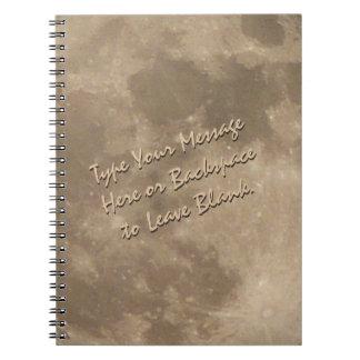 Regalos de encargo del libro del diario de la Luna Libro De Apuntes Con Espiral