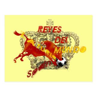 Regalos de Espana Reyes Del Mundo Toro Futbol Postales