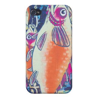 Regalos de Howell del caso del iPhone 4 del pescad iPhone 4/4S Carcasas