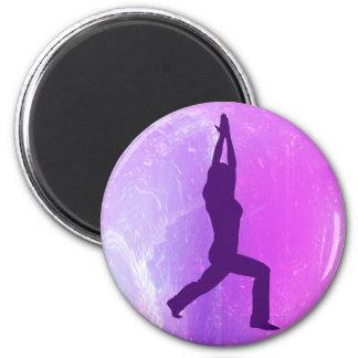 Regalos de la actitud del guerrero de la yoga iman para frigorífico