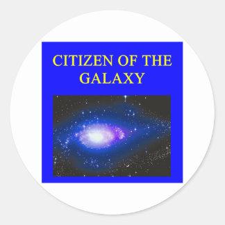 regalos de la astronomía pegatina redonda