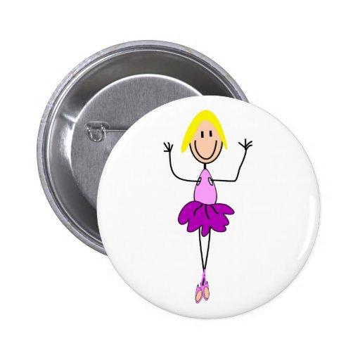 Regalos de la bailarina--Bailarina adorable de la  Pin Redondo De 2 Pulgadas