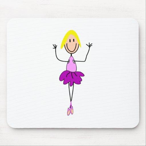 Regalos de la bailarina--Bailarina adorable de la  Alfombrillas De Ratones