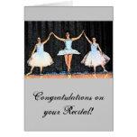 Regalos de la bailarina felicitacion