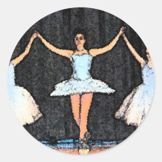 Regalos de la bailarina pegatina redonda