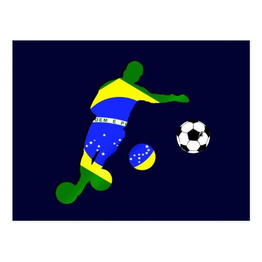 Regalos de la bandera 2010 del Brasil del jugador Postales
