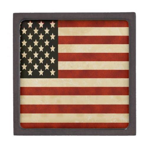 REGALOS de la bandera americana del vintage Cajas De Recuerdo De Calidad