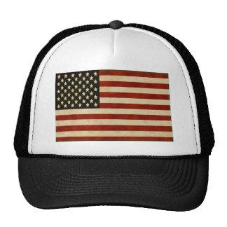 REGALOS de la bandera americana del vintage Gorras