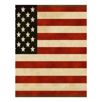 REGALOS de la bandera americana del vintage Membrete A Diseño