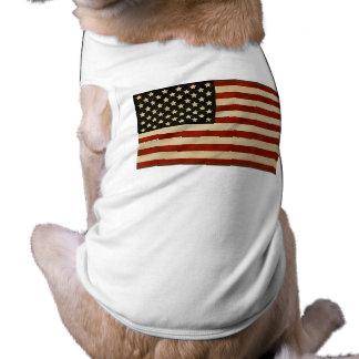 REGALOS de la bandera americana del vintage Playera Sin Mangas Para Perro
