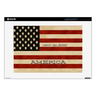 REGALOS de la bandera americana del vintage Portátil 38,1cm Skin