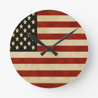 REGALOS de la bandera americana del vintage Reloj De Pared