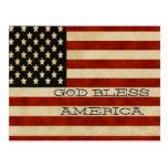 REGALOS de la bandera americana del vintage Tarjeta Postal