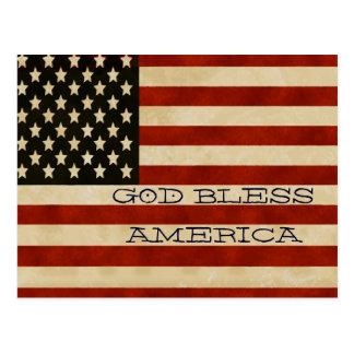 REGALOS de la bandera americana del vintage Postal
