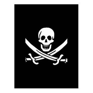 Regalos de la bandera de pirata tarjeta postal