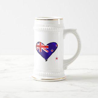Regalos de la bandera del corazón del amor de Nuev Taza De Café