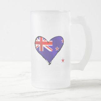 Regalos de la bandera del corazón del amor de Nuev Taza Cristal Mate