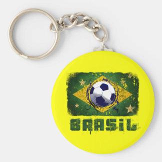 Regalos de la bandera del fútbol del Brasil del Gr Llavero Personalizado