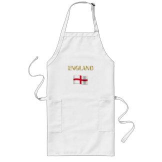 Regalos de la bandera del St Jorte de Inglaterra Delantal Largo