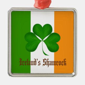Regalos de la bandera y del trébol de Irlanda Ornamentos De Navidad