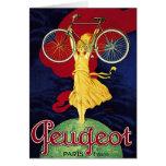 Regalos de la bicicleta del vintage - ciclos Peuge Felicitaciones