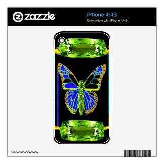 Regalos de la Birthstone-Mariposa de agosto por Skins Para eliPhone 4