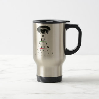Regalos de la carta de ojo del vintage taza térmica