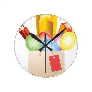 Regalos de la celebración reloj redondo mediano