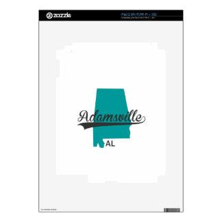 Regalos de la ciudad del AL de Adamsville Alabama Calcomanías Para iPad 2