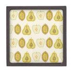 Regalos de la cocina de los aguacates de las peras cajas de joyas de calidad