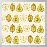 Regalos de la cocina de los aguacates de las peras poster