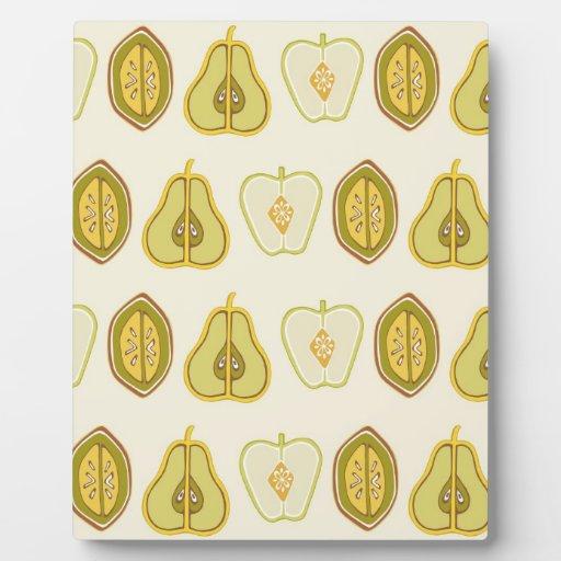 Regalos de la cocina de los aguacates de las peras placas de madera