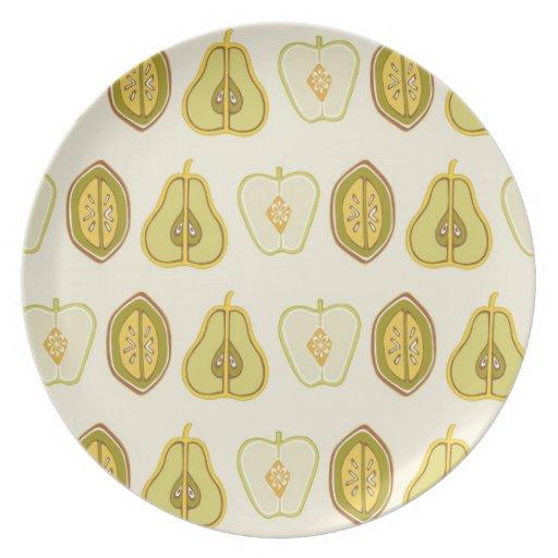 Regalos de la cocina de los aguacates de las peras platos de comidas