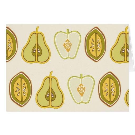 Regalos de la cocina de los aguacates de las peras tarjeta pequeña