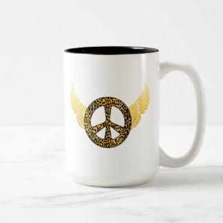 Regalos de la cocina del ángel de la paz del guepa tazas de café