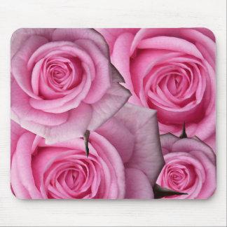 Regalos de la decoración del rosa blanco de Mousep Tapetes De Ratón