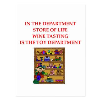 Regalos de la degustación de vinos postales