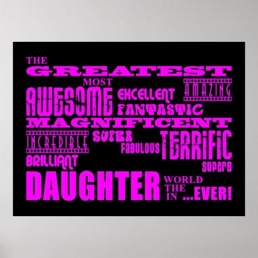 Regalos de la diversión para las hijas: La hija má Póster